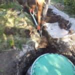 Сливная яма в труднодоступном месте