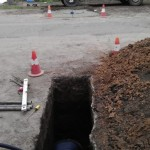 Горизонтальное бурение или прокол под дорогой в Полтаве