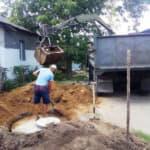 Выгребная яма с вывозом земли